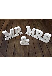 MR & MRS Wooden Letters Wedding Decoration / Present (As shown) (1, DESIGN 1)