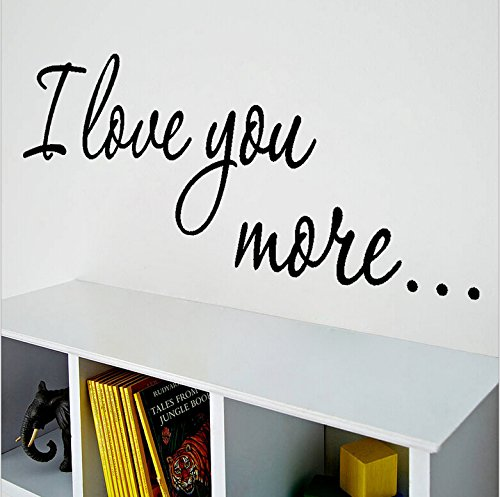 I Love You Quotes: I Love You More Lettering Quotes Wall Decal For Home Decor