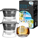 Ice Ball Maker, Sphere Mold Creates Perfect 2.5 INCH Round Ice Cube Balls -Set Of 2 by Kitchen Dreams
