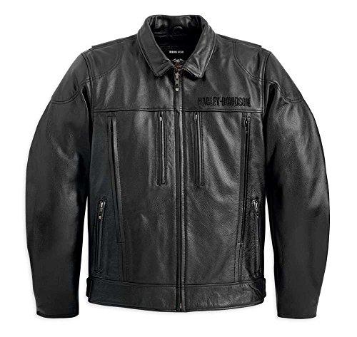 Harley-Davidson Men's Stone Leather Jacket Black 98037-12VM