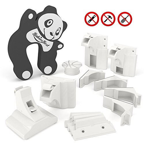 Safety Adjustable Magnetic [Locks & Key] - Most Complete, Patent Pending Bundle - Protect Baby & Secure Valuables - Tool Free, Hidden Installation - Best for Child Proofing Cabinets & Drawers