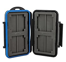 TPF Waterproof Antishock Rubber Sealed Memory Cards Case Holder Wallet Hard Storage fit 4 CF and 8 MemoryStick Pro Duo