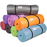 "Fit Spirit® Yoga Starter Set Kit - Includes 0.5"" Inch NBR Exercise Mat and Optional Yoga Block, Yoga Towels & Yoga Strap - Choose Your Color & Accessories"