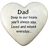Graveside Memorial Ornaments - Heart Plaque Dad