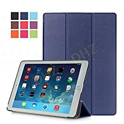 iPad Pro 9.7 Case - DHZ Blue Ultra Slim Lightweight Smart Shell Standing Cover with Auto Wake / Sleep Feature for Apple iPad Pro 9.7 inch Tablet(2016 Version)