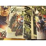 Marvel The Avengers 4 Folder Set ~ Captain America, The Hulk, The Avengers Team, Crime Fighters