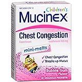 Mucinex Childrens Chest Congestion Expectorant Mini-Melts, Bubblegum, 12 Count
