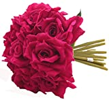 Fourwalls Artificial Rose Bouquet (26 cm, Rani, 10 Flower Stems)
