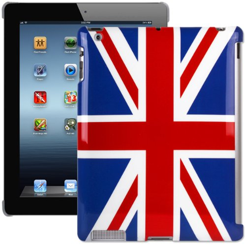 Super Slim Union Jack XYLO-SHELL Hard Back Case for the Apple iPad 2 and New iPad 3 2012. Compatible with Smart Cover.