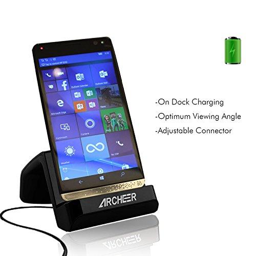 USB C Caricatore, Archeer USB C Supporto di Ricarica Charging Dock Stand Cellulare per LG G5, HTC ONE A9, HP Elite X3, Nexus5X, Nexus 6P, Droid Turbo 2, Microsoft Lumia 950XL