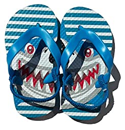 Blue Shark Flip Flops Boys Size7-8