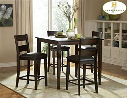 Homelegance Griffin 5-Piece Counter Height Dining Table Set - Espresso