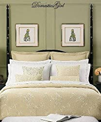Martha Stewart IKEBANA Embroidered Leaf Standard Sham