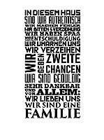 Ambiance-sticker Vinilo Decorativo In Diesem Haus Wir Eine Familie German Family Love
