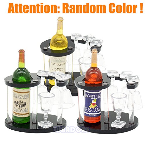 1:12 Wine/Beer 4 Cups Desk Shelf Rack Miniature Dollhouse Toy Accessory Gift