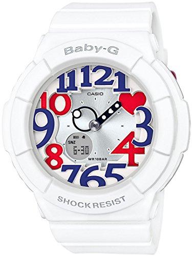 [カシオ]CASIO 腕時計 BABY-G NEON ILLUMINATOR White Tricolor Series BGA-130TR-7BJF レディース