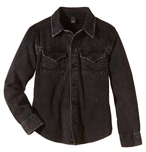 LTB Jeans Jungen Hemd Jackie Shirt, Gr. 176, Schwarz (Mini Cool Black Wash 3560)