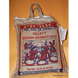 Brown Basmati Rice Picric Brand 10 Lbs Product of India