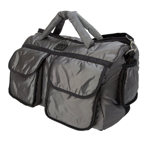 7 Am Enfant Voyage Bag (Large, Metallic Silver)