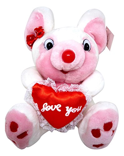 "Royal Imports Pink 9"" Mouse With an ""I Love You"" Heart #p047-W - 1"