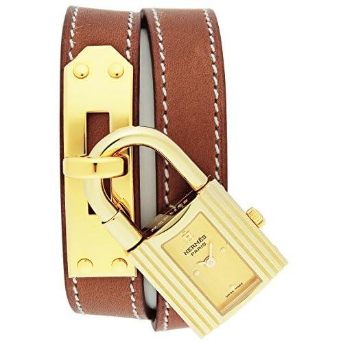 [エルメス]HERMES 腕時計 ケリー ゴールド文字盤 K18YGケース 二重巻カーフ革ベルト KE1201.470.VBA1 レディース 【並行輸入品】