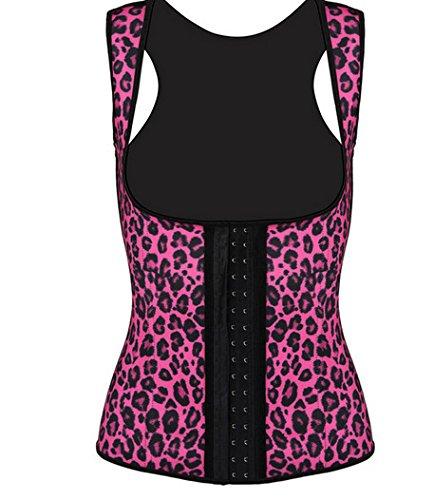Ladies maglia di Leopard gomma corsetto ampia cinghie Europa Palace LaTeX corsetto del corsetto , figure color , l