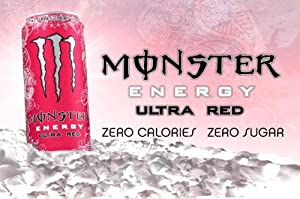 Monster Energy Ultra Red! - 16 Oz Cans - 12 Pack