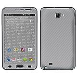 """atFoliX Designfolie """"FX-Carbon-Silverlight"""" f�r Samsung Galaxy Note (GT-N7000) - ohne Displayschutzfolievon """"Designfolien@FoliX"""""""