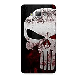 Special Bleed Red Skull Back Case Cover for Galaxy A7