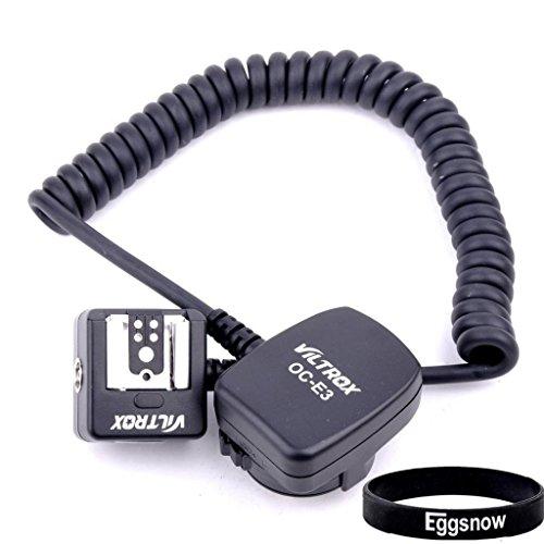 Eggsnow 1.8M TTL Off Camera Flash Cord Sync Cable for Canon All EOS Cameras (EOS EOS-1D X / 5D Mark III / EOS 6D / 7D / 70D / 60D / 60Da / 700D / 600D / 100D) Replacement OC-E3 - Black