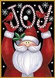 Toland Home Garden  Santa Joy 12.5 x 18-Inch Decorative USA-Produced Double-Sided Garden Flag