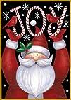 Toland Home Garden  Santa Joy 12.5 x 18-Inch Decorative