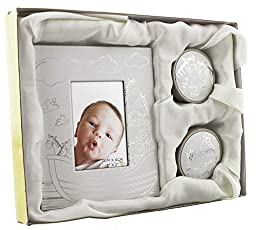 Noahs Ark First Tooth And Curl Keepsake Box With Photo Frame By Haysom Interiors