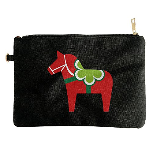 [Cute Horse Carrousel Canvas Zipper Pouch Pencil Case, Make Up Bag, Cell Phone Bag, Travel Toiletry] (50s Make Up)