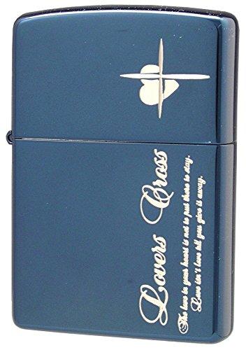 ZIPPO (Zippo) oil lighter NO200 lovers / Cross-message SIDE blue / silver 63050398