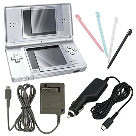 eForCity 4 Accessory Bundle Charger Set For Nintendo DS Lite