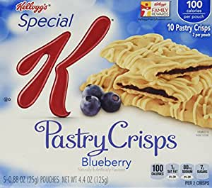 Special K Fruit Crisps, Blueberry, 10-Count Bars (Pack of 6)