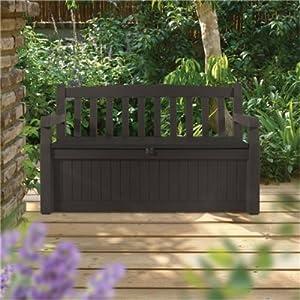 Keter Eden Bench Box Keter Eden Plastic Garden Storage Bench Box 265 Litre Capacity Brown Price