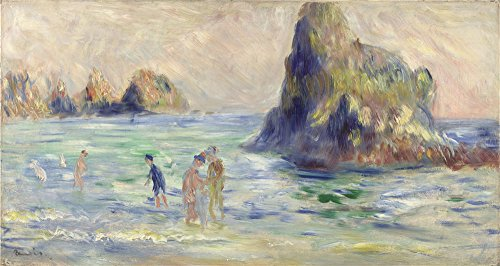 The Perfect Effect Canvas Of Oil Painting 'Pierre Auguste Renoir Moulin Huet Bay Guernsey ' ,size: 12 X 23 Inch / 30 X 57 Cm ,this High Resolution Art Decorative Canvas Prints Is Fit For Dining Room Decor And Home Decoration And Gifts