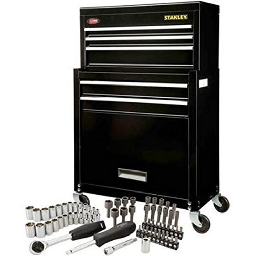 Stanley Rolling Tool Chest, with a 68 Piece Tools Set Bonus Get Rid of That Old Tool Box and Enjoy This New Tool Chest Storage with a Generous 68 Piece Tool Set. This Rolling Tool Chest Would Be a Great Addition to Your Tool Collection. Free Shipping