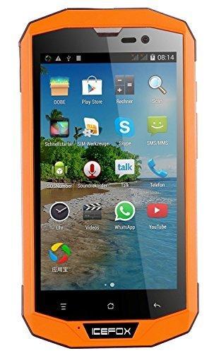 Icefox(R) Hero Plus, 4G LTE Android Outdoor Smartphone, Ohne Vertrag,Quad Core IP68, wasserdichtes Handy, 5,0 Zoll HD 720P Display,2GB RAM,16GB ROM (13,7 GB für Benutzer), 13MP Kamera, WiFi, GPS, FM,Bluetooth 4,0,4050mAh Akku,Versand aus Deutschland