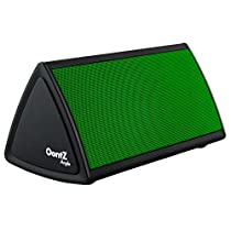 The OontZ Angle Green Enhanced Edition : The Ultra-Portable Wireless Bluetooth Speaker by Cambridge SoundWorks with up to 12-hour battery playtime, great sound, surprising volume and built-in microphone for hands-free speakerphone calls. Perfect for your iPhone 6, iPhone 6 Plus, iPad, Samsung, and tablet. Matte Black with Green Grille