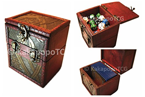M01A-Wood-Single-Deck-and-Counter-Box-Protector-Sleeve-Storage-Trading-Cards-TCG-Ultra-Pro-MTG-Magic-the-Gathering-Pokemon-YGO-Yugioh-Vanguard-Lord-of-the-Rings-EDH-Commander-Dice