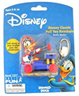 Disney Classic Pull Toy Donald Instrument Keychain