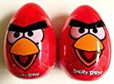 Giant Red Angry Birds Candy & Sticker Filled Eggs, 6 Inches Tall! (2 Pack)