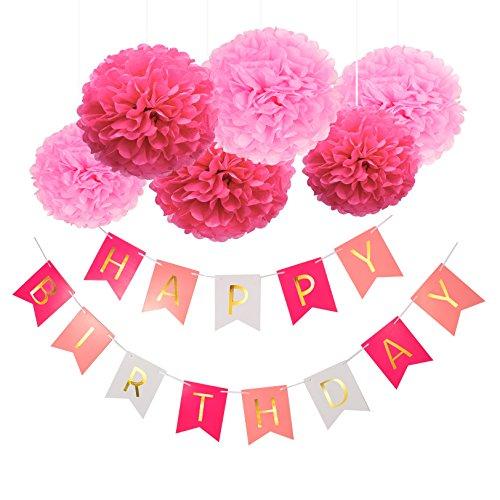 Blulu-Happy-Birthday-Banner-Kit-Bunting-Garlands-Tissue-Paper-Pom-Poms-Flower-for-Birthday-Party-Decoration