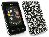 EMARTBUY LG KP500 COOKIE DIAMANTE HARD BACK COVER BLACK CLEAR