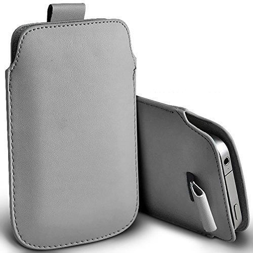 ( Grey ) T-Mobile myTouch Schutzkunstleder Pull Tab stilvolle Einbau Beutel-Kasten-Abdeckung Haut durch Spyrox