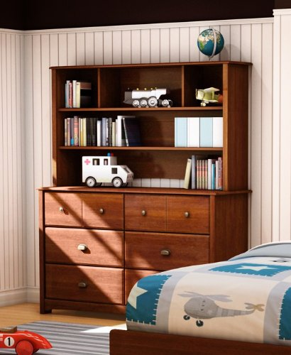 Cheap Kids Dresser Buffet Hutch Contemporary Style in Sumptuous Cherry Finish (SS3356-027-072)
