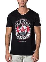 CANADIAN PEAK Camiseta Manga Corta Jeineken (Negro)